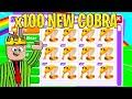 I TRADED 100 new COBRA pets....you WONT BELIEVE what I got! (adopt me rich server)
