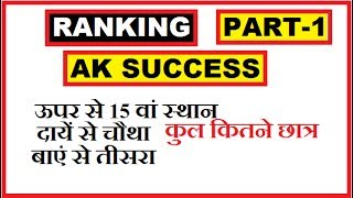 Ranking reasoning tricks in hindi | Part-1 | for ssc, cgl, bank po, ibps po, rrb etc.|