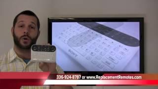 Sony NSG-MR1 Google TV Remote Control PN: 148921312 - ReplacementRemotes.com