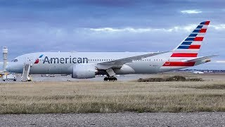 DIVERSION! American Airlines Boeing 787-8 Dreamliner Takeoff from Calgary Airport