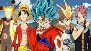 vuclip Goku vs Luffy vs ichigo vs natsu all in one fight