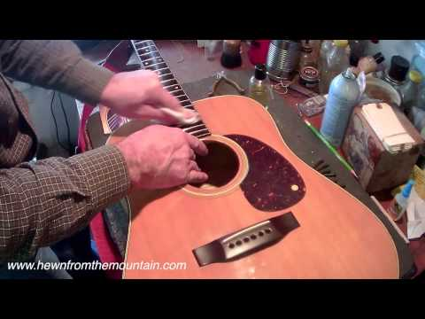 How We Re-string Guitars at Hewn from the Mountain