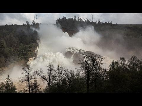 California: Falla en Represa de Oroville, causa evacuación de áreas cercanas