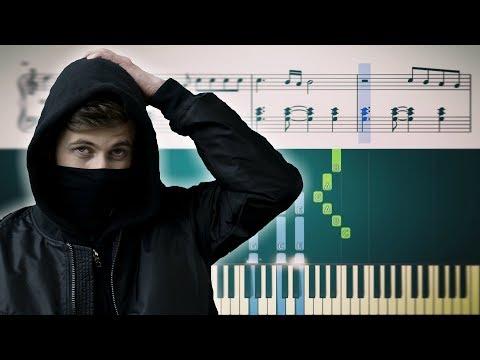 DARKSIDE (Alan Walker Feat. Au/Ra & Tomine Harket) - Piano Tutorial