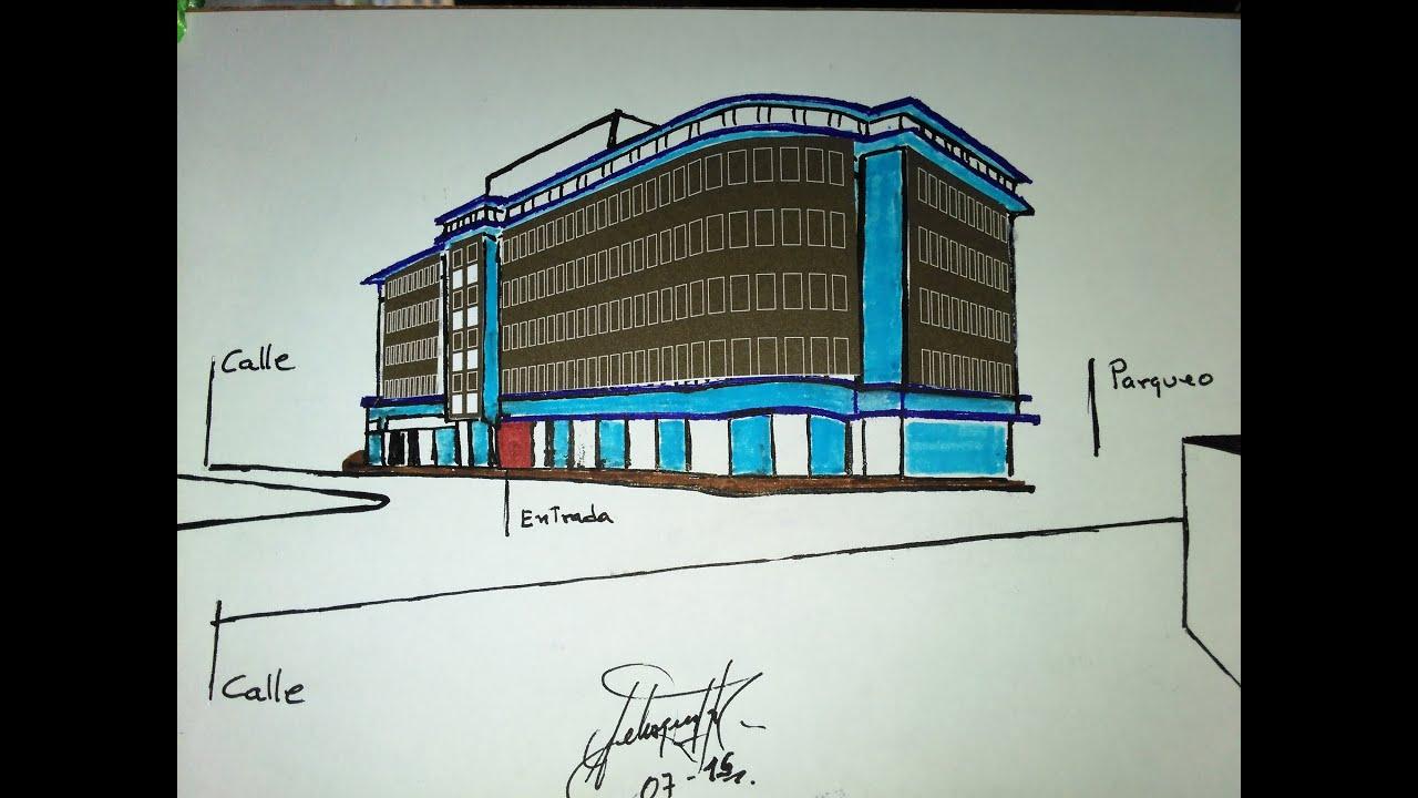 How To Draw + Design A Building For Shopping Center,Como