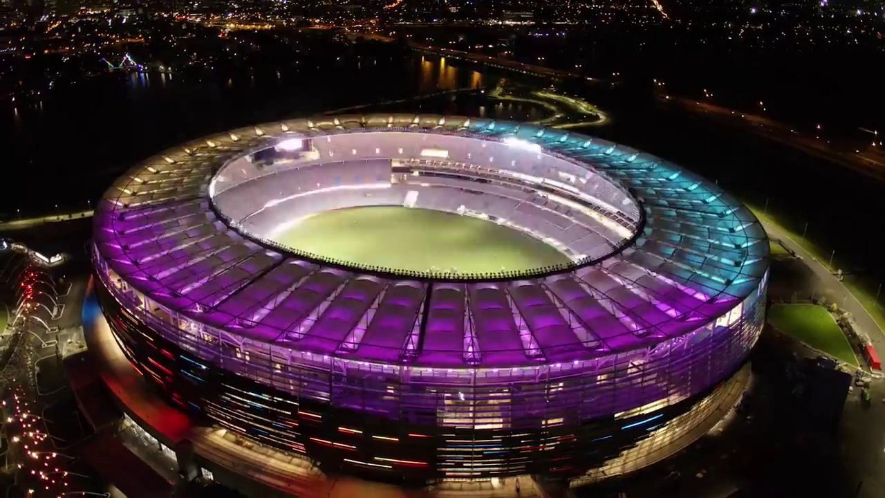 The New Perth Stadium Lighting