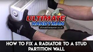 Gambar cover How to fix a radiator to a stud wall