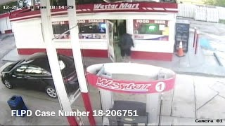 Surveillance video shows man getting shot at Fort Lauderdale gas station