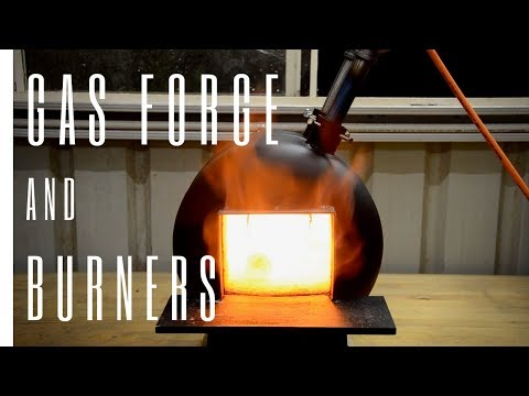 Building a Blacksmithing Gas Bottle Propane Forge & Burners