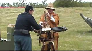 Fort Sisseton 2009 Gatling Gun Firing