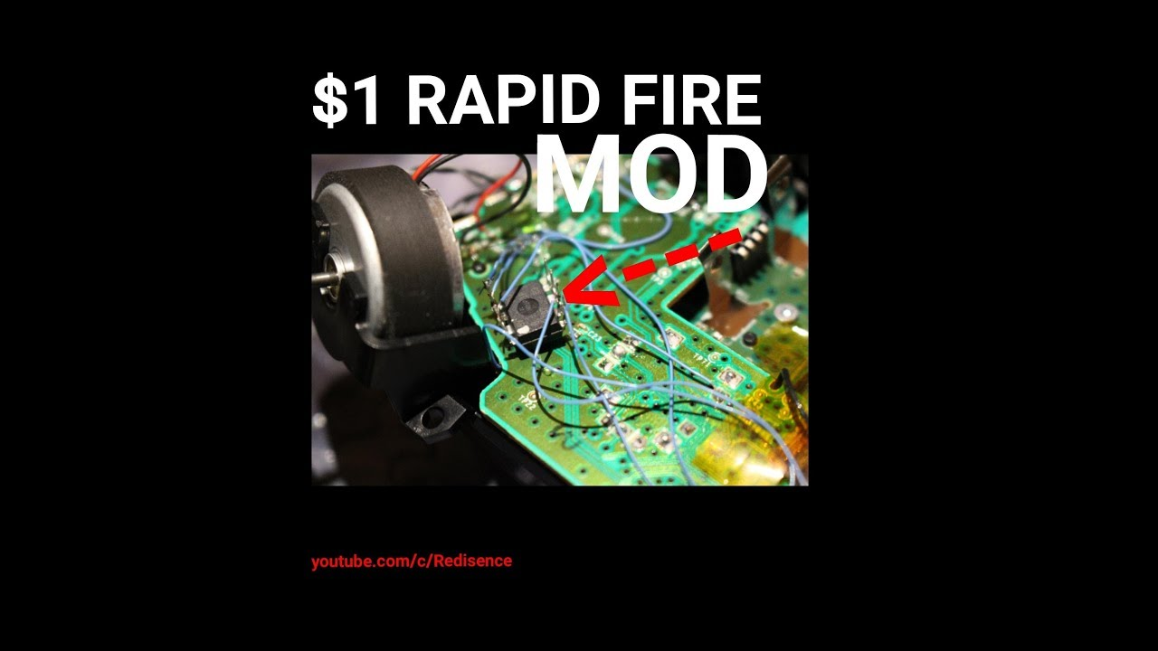 Xbox one s diy arduino rapid fire mod demo youtube
