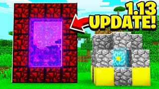 10 SECRET THINGS IN THE 1 13 MINECRAFT UPDATE!