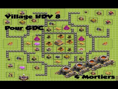 clash of clans village hdv 8 pour guerre de clans ou. Black Bedroom Furniture Sets. Home Design Ideas