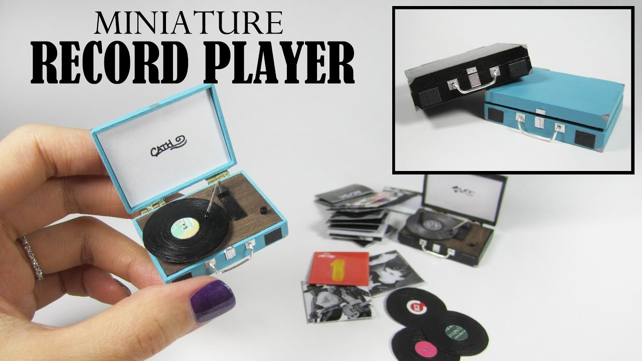DIY Miniature: Retro Record Player - YouTube