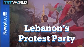 Lebanese protests have become a carnival of music, dance and humour