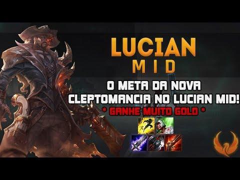 O META DA NOVA CLEPTOMANCIA NO LUCIAN MID! *GANHE MUITO GOLD* - LUCIAN MID GAMEPLAY [PT-BR]