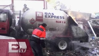 Derrumbe en Hospital Infantil de Cuajimalpa por explosión de pipa