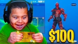 Kid Spends $100 On Season 10 *MAX* Battle Pass With Brother's Credit Card! (Fortnite)