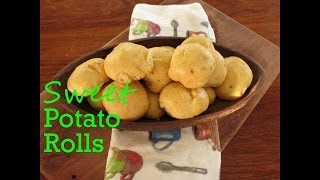 Sweet Potato & Orange Dinner Rolls