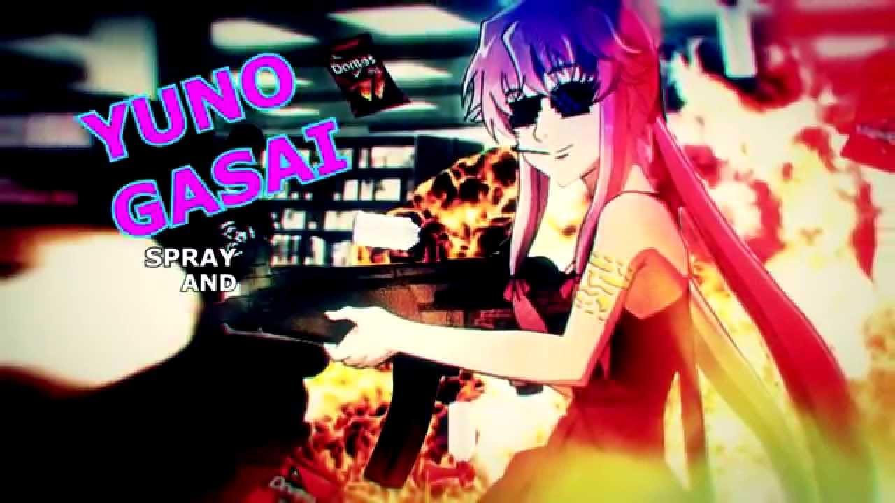 Why Is My Wallpaper Falling Off Mlg Anime 1 Mirai Nikki Scene Youtube