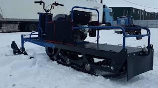 Мотобуксировщик ЮКОН с лыжным модулем Обзор