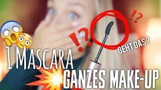 Ganzes Make-up mit NUR EINER Wimperntusche .. GEHT DAS ?! 😱 | Dagi Bee