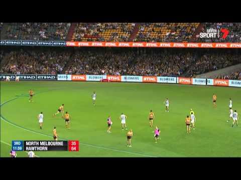 Round  Afl Highlights North Melbourne V Hawthorn