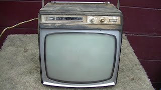 1966 Sears Toshiba Portable Black And White Television Assessment For Repair