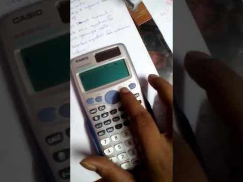 How to find answer for determinent of a matrix in scientific calculator?