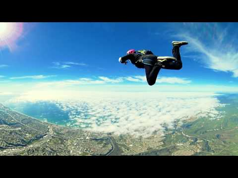 VR Skydiving 1st person POV 360° video free-fall Oceanside, CA