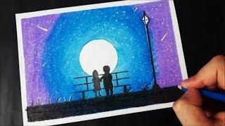 Hayal Dunyasi Pastel Boya Ile Cizimi How To Draw A Dream Youtube