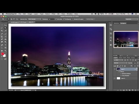 Photoshop Tutorial - How To Add Drop Shadow Frame To Your Photo