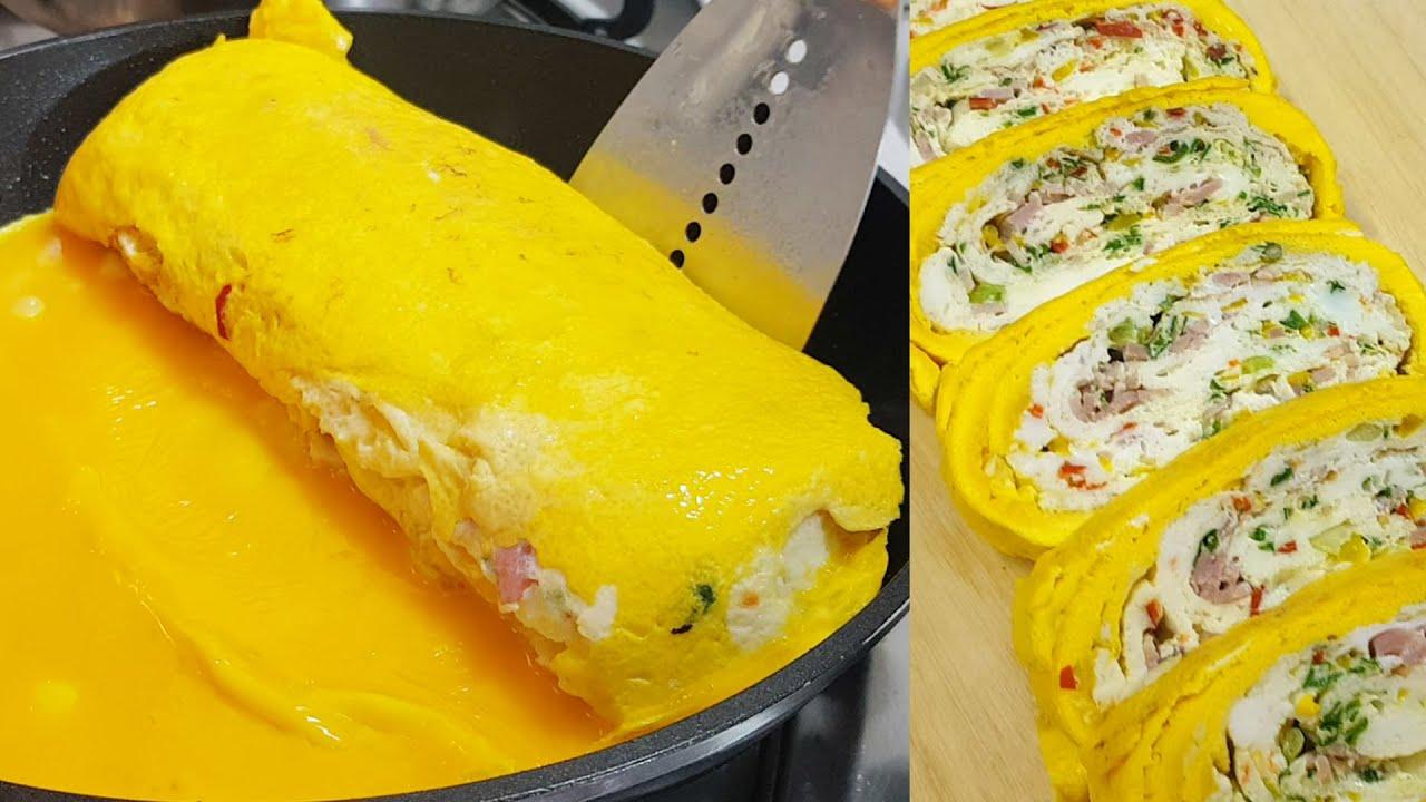 두툼한 계란말이 만드는법 맛있는 계란요리 레시피 how to make egg rolls