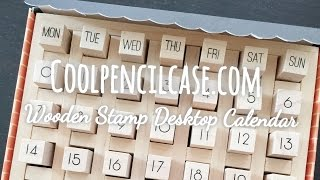 Coolpencilcase.com (wooden Stamp Desktop Calendar For Midori Travelers Notebook And Planners)