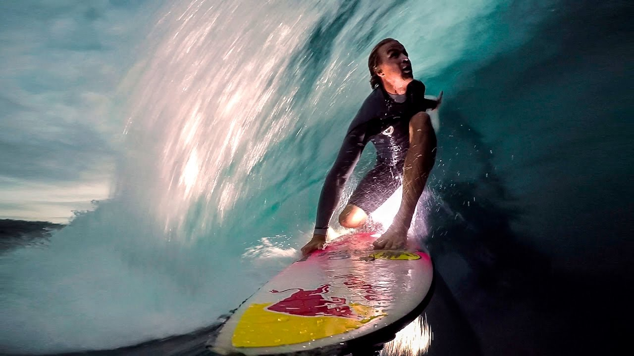 gopro surf jamie o brien lights up the night at pipeline