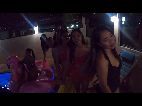 Lust ladies last night pool party before moving back to Soi 6 in Pattaya