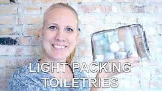 Light Packing: How to pack Toiletries for 2 months (in a carry-on)