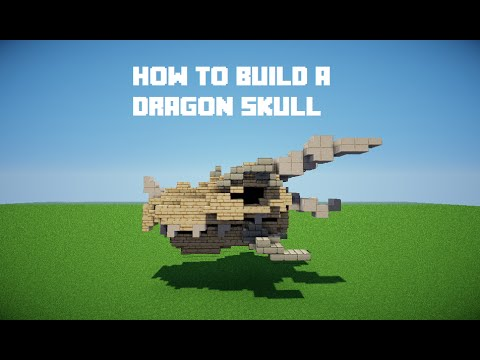 Minecraft Tutorials | build a dragon skull - YouTube