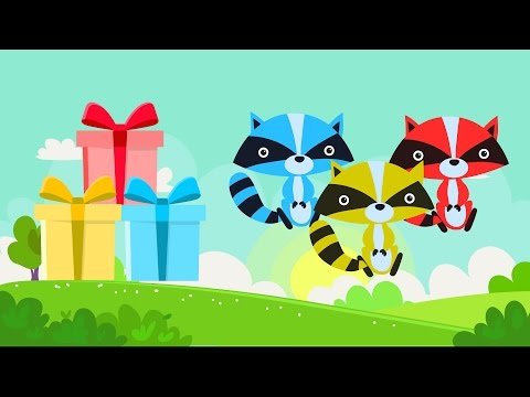 Lear colors with animals Fox - Colors for kids - Colours animals for children