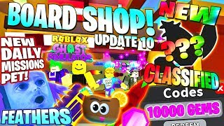 NEW SHOP ! CLASSIFIED #5 ! GEM CODE ! DAILY MISSION PET FEATHERS 👻 Ghost Simulator Update 10 Roblox