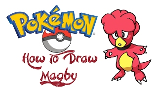 How To Draw Magby (POKEMON)