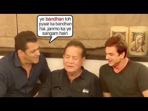 See Salman Khan's EMOTIONAL Moment SING!NG For Dad Salim Khan Wid Family@House GalaxyApts