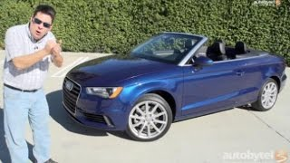 2015 audi a3 cabriolet convertible test drive video review