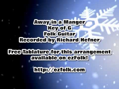 Away in a Manger - Folk Guitar