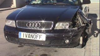 Ремонт автомобиля Audi A4 1999 передний левый удар