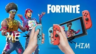 FORTNITE ON NINTENDO SWITCH FOR 2 PLAYERS (each player uses one joycon)