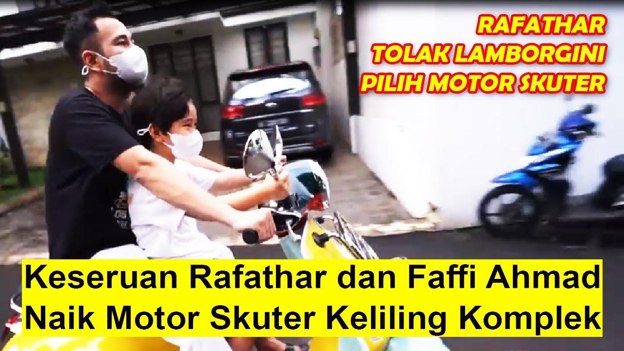 Keseruan Rafathar dan Raffi Ahmad Naik Skuter Keliling Komplek | Si Anak Sultan Tolak Lamborgini!