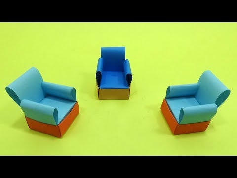 How To Make Paper Sofa Set Easy - Miniature Paper Sofa Toy for Kids - Paper Craft Idea