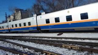 ст. Аягоз. Пассажирский поезд №70 TALGO сообщением «Алматы-2-Защита»