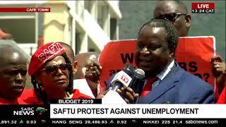 Tito Mboweni accepts SAFTU's memorandum ahead of Budget speech